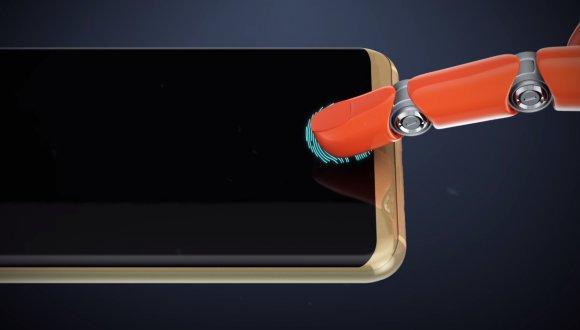 Bu Telefon Parmak İzini Ekrandan Okuyor