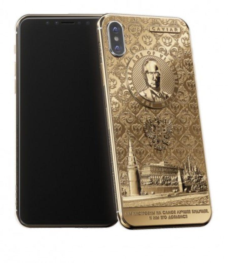 Putin'in zaferini özel bir iPhone X tasarımı ile taçlandırdı.