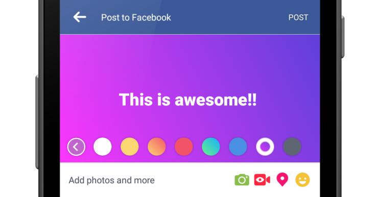 Facebook'un yeni özelliği arkaplanı renkli yapıyor!