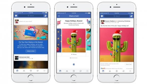 Facebook Yılbaşına Özel Kartlarını Yayınladı!