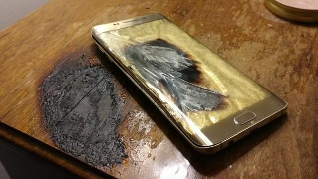 Şimdi de Galaxy S6 Edge+ Patladı!