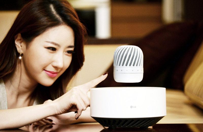 LG'den havada duran kablosuz hoparlör JP9