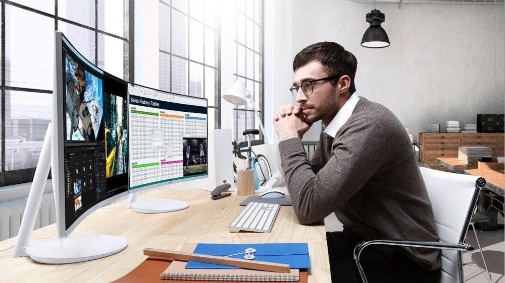 Samsung'dan Quantum Dot teknolojili net kavisli monitör tanıtıldı!