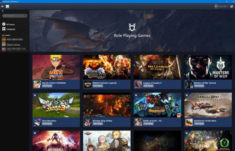 Facebook PC İçin Gameroom Oyun Platformunu Geliştirdi