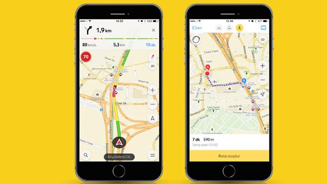 Yandex Navigasyon'dan sonra Yandex Haritalar'a da Sesli Navigasyon özelliği geldi!