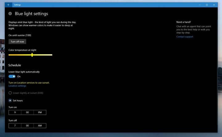 Windows 10'a mavi ışık filtresi geldi! İşte özellikleri
