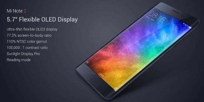 Xiaomi Mi Note 2 Satış Hızında Rekor Kırdı