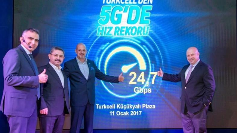 Turkcell 5G hız testi yaptı, Saniyede 24.7Gbit hıza ulaştı!