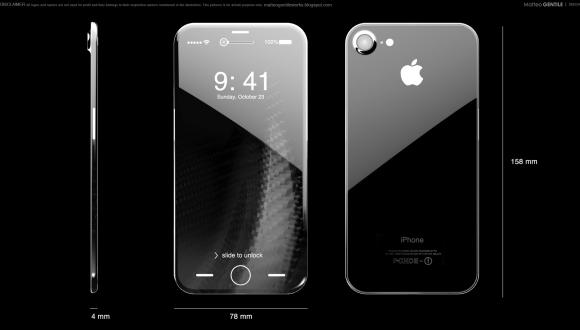 iPhone'un 10. yılına özel iPhone 8 modelinde 5.8 inç kavisli OLED ekran kullanılacak!