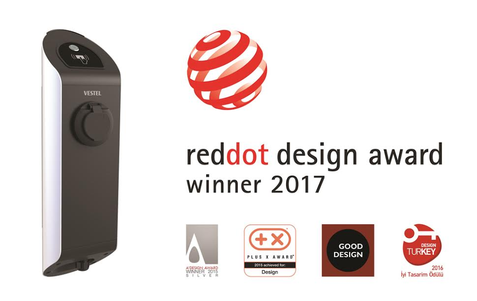 Vestel'in Envo Elektrikli Araç Şarj Cihazı dünyanın en iyi tasarım ödüllerini topladı
